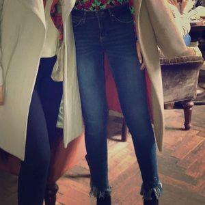 Zara trafaluc fringe jeans
